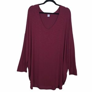 Old Navy Luxe Relaxed Fit High-Low Hem Tunic Top